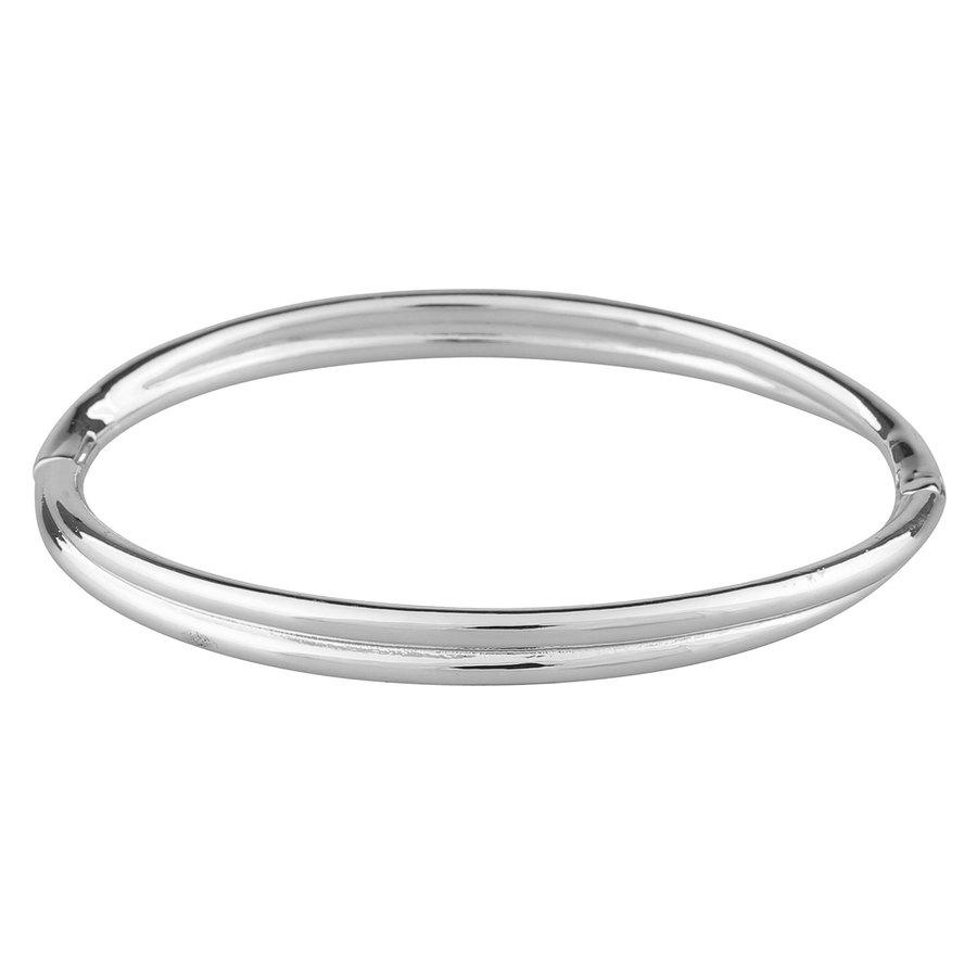 SNÖ of Sweden Helena Oval Bracelet – Plain Silver