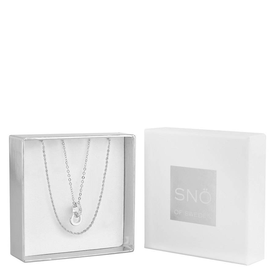SNÖ of Sweden Crystal Royal Pendant Necklace Set - Silver/Clear