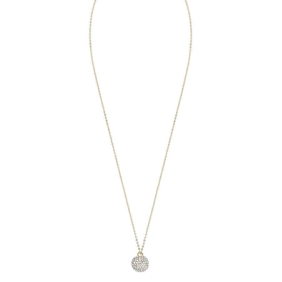 Snö of Sweden Zin Pendant Necklace 60 cm – Gold/Clear