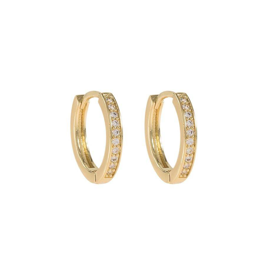 Snö Of Sweden Elaine Small Ring Earring - Gold/Clear 14 mm
