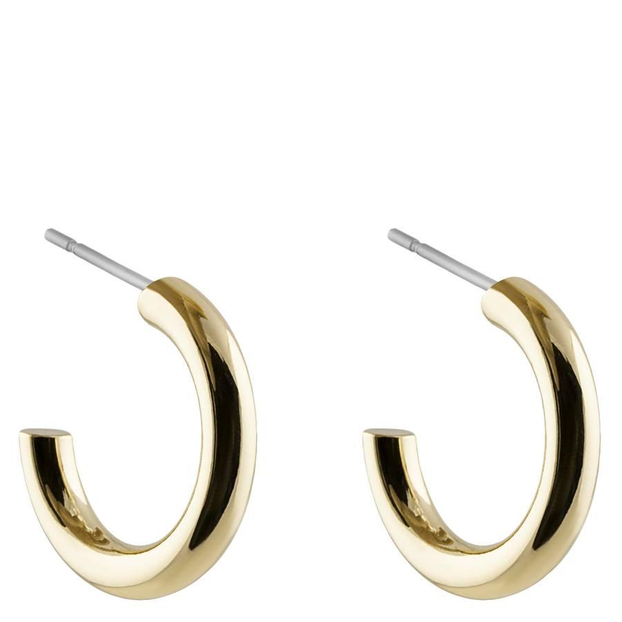 Snö of Sweden Adara Small Oval Earring 18 mm - Plain Gold
