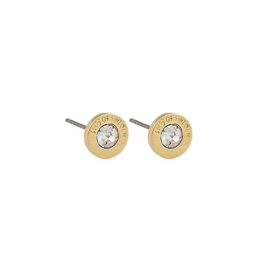 Snö Of Sweden Sence Small Coin Earring - Gold/Clear