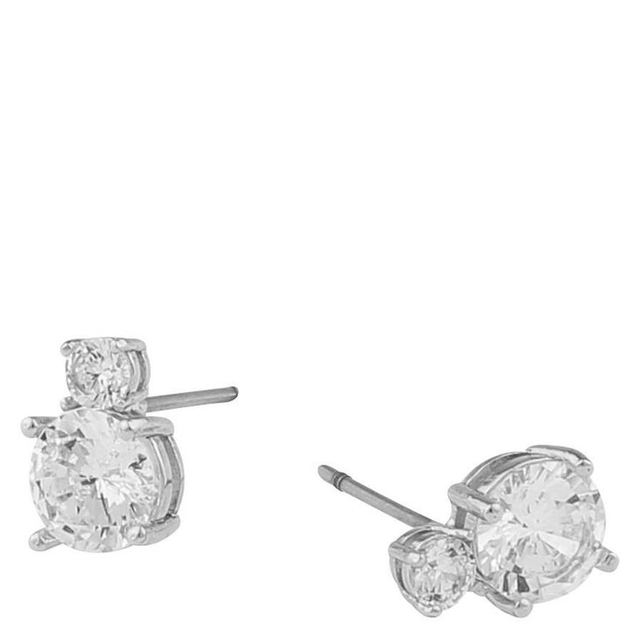 Snö Of Sweden Duo Earring ? Silver/Clear