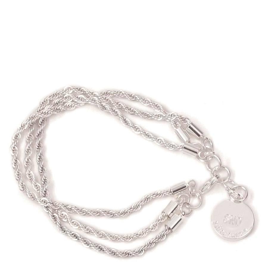 Snö Of Sweden Hege 3-String Bracelet 16?17 cm ? Plain Silver