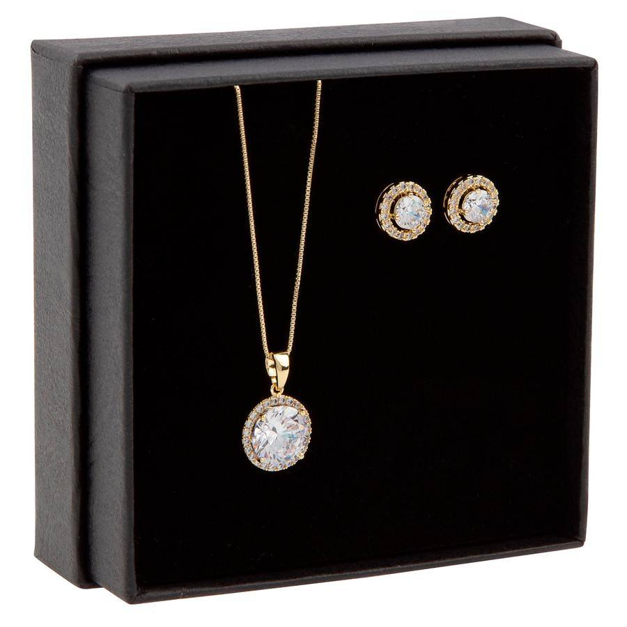 Snö of Sweden Gift Box Lex Necklace ? Gold/Clear