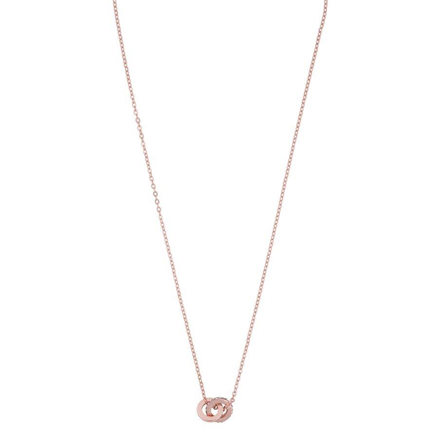 Snö Of Sweden Connected Pendant Necklace 42 cm – Rosé/Clear