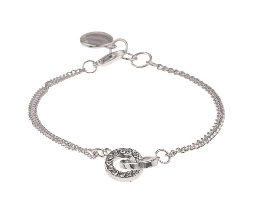 Snö Of Sweden Blizz Chain Bracelet – Silver/Clear 16–17 cm