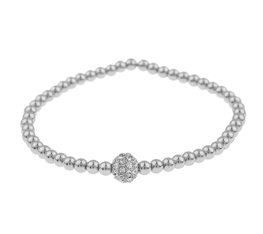 Snö Of Sweden Mysk Small Elastic Bracelet S/M - Silver/Clear