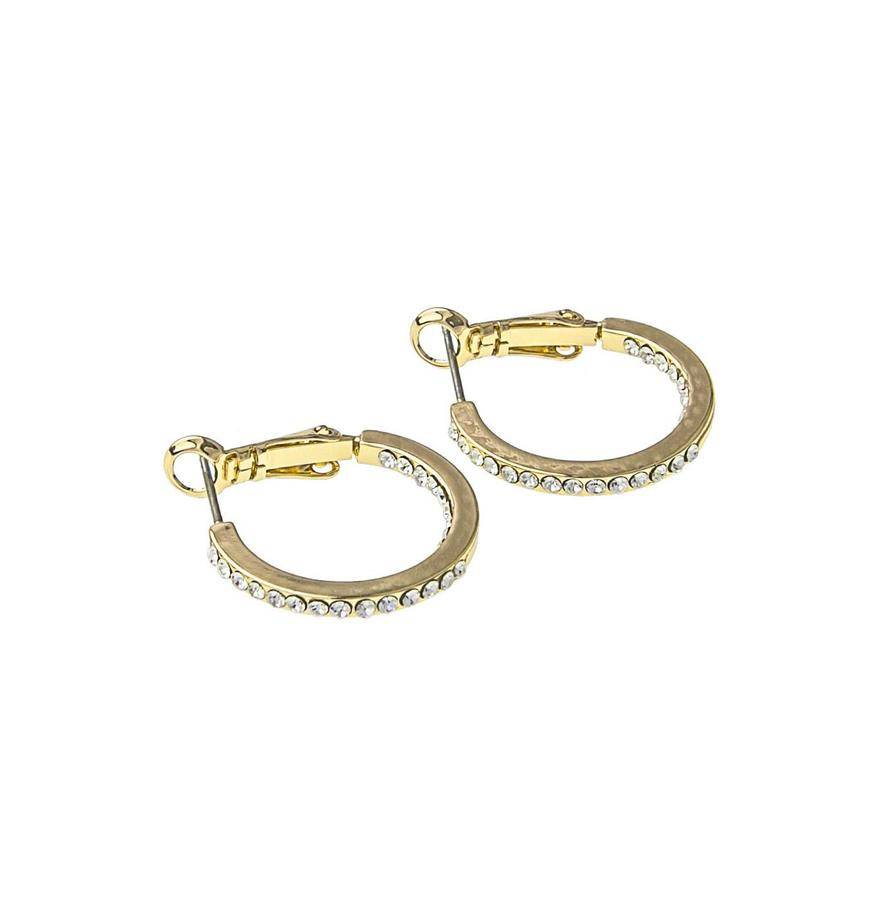 Snö Of Sweden Story Small Ring Earring - Gold/Clear