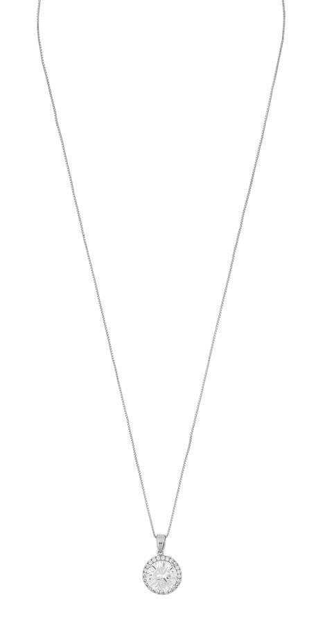 Snö Of Sweden Lex Pendant Necklace - Silver/Clear