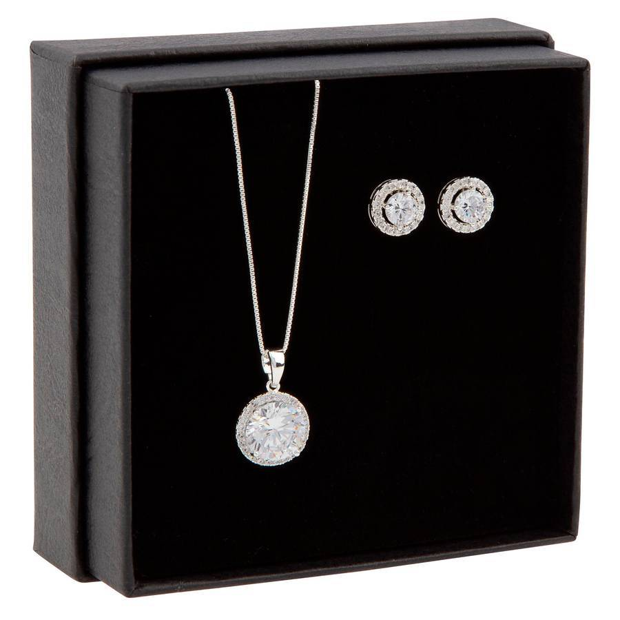 Snö of Sweden Gift Box Lex Necklace ? Silver/Clear