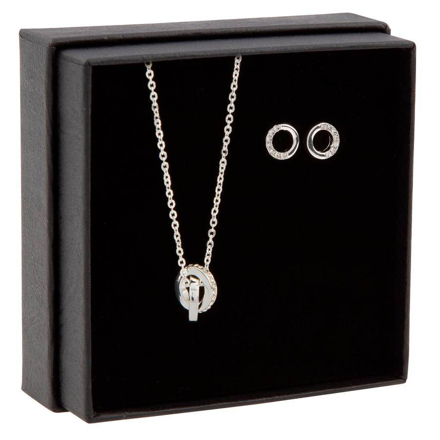 Snö of Sweden Gift Box Connected Necklace ? Silver/Clear