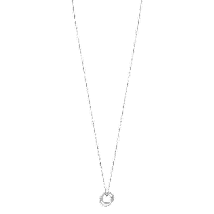 Snö Of Sweden Connected Pendant Necklace 80 cm – Silver/Clear