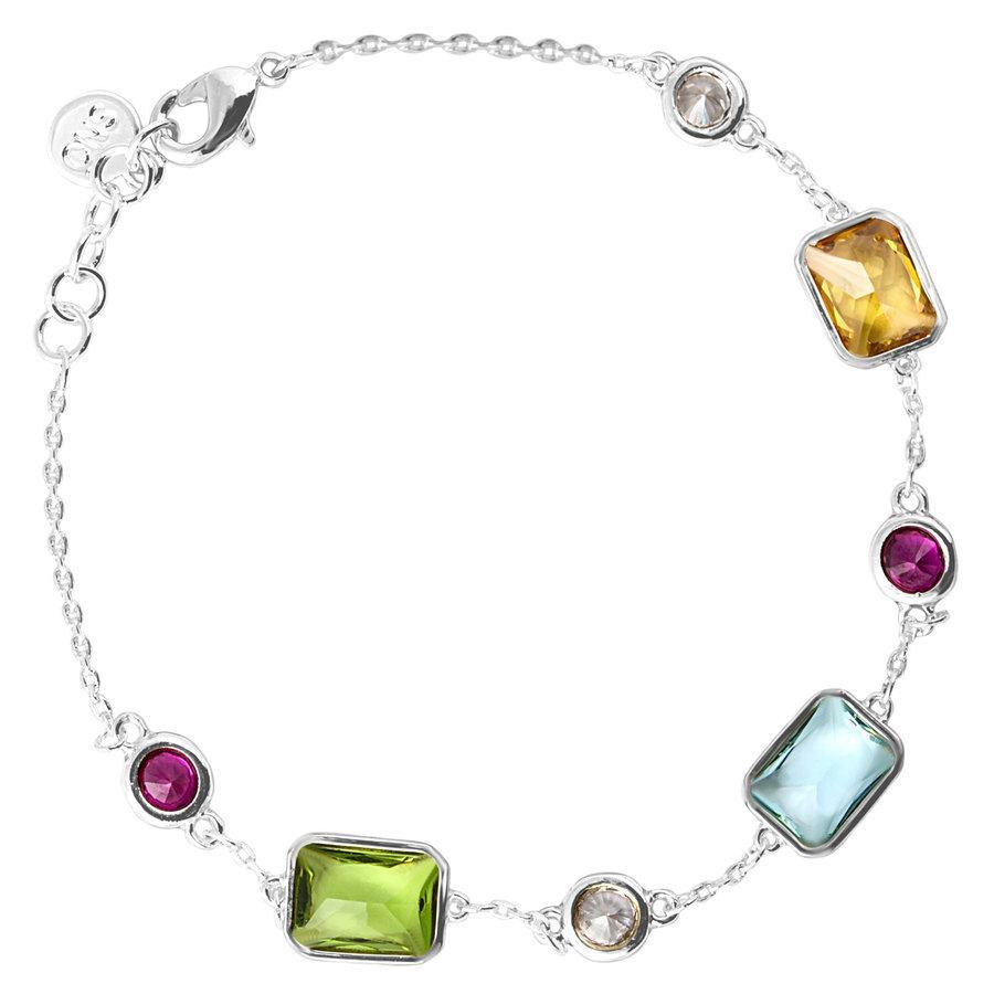 Snö of Sweden Twice Chain Bracelet Silver/Mix 16-17 cm