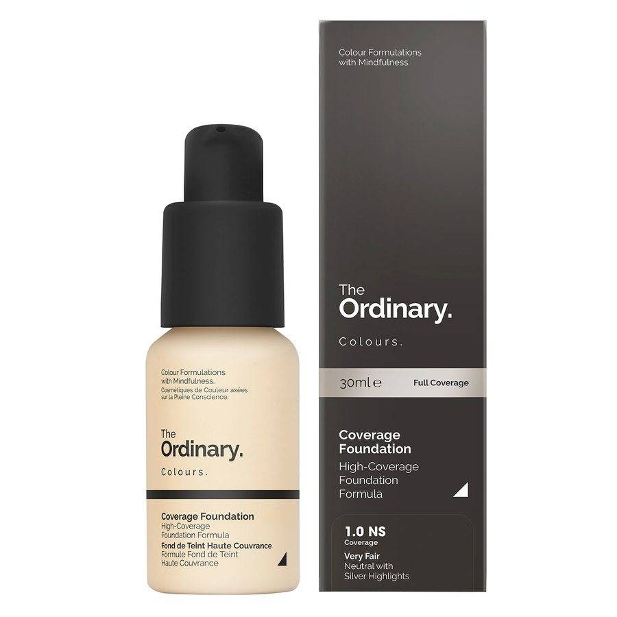 The Ordinary Coverage Foundation 1.0 NS Very Fair Neutral Silver 30ml