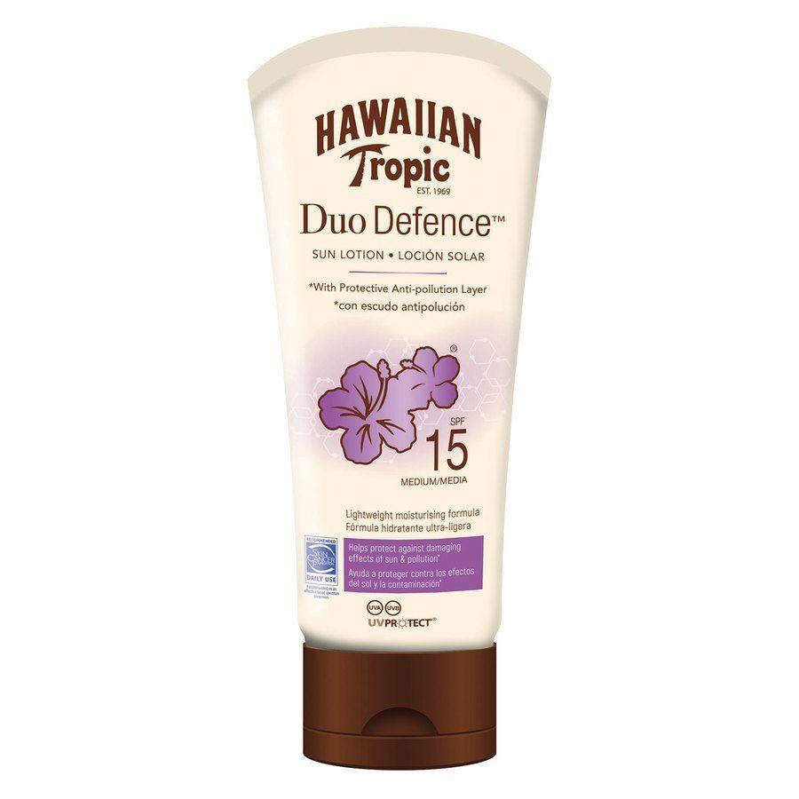 Hawaiian Tropic DuoDefence Sun Lotion SPF15 180 ml