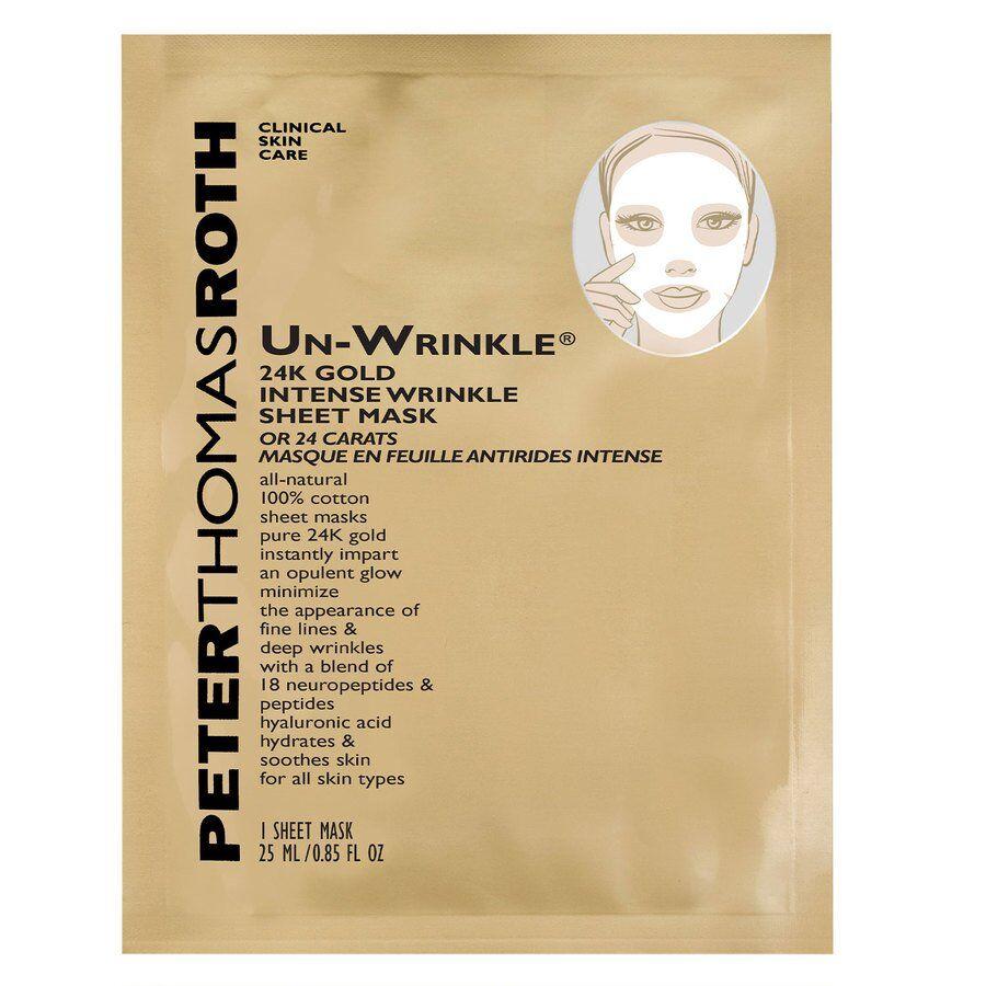 Peter Thomas Roth Un-Wrinkle 24K Gold Sheet Mask 6 kpl