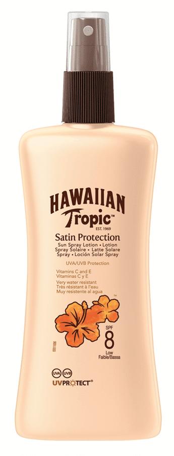 Hawaiian Tropic Satin Protection Spray Lotion SPF 8 200 ml
