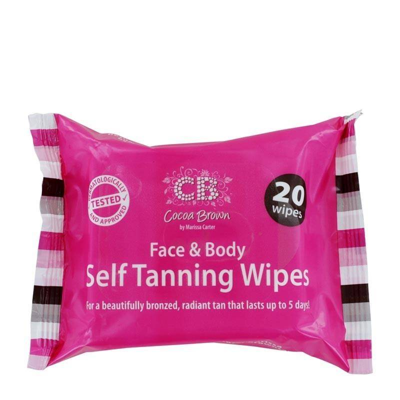 Cocoa Brown by Marissa Carter Face & Body Self Tanning Wipes 20kpl