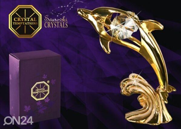 Swarovski Koriste-esine Swarovski kristalleilla DELFIINI
