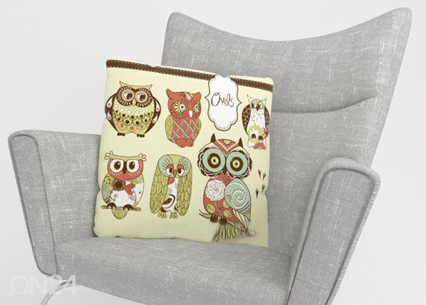 Wellmira Koristetyyny OWL 2 40x40 cm