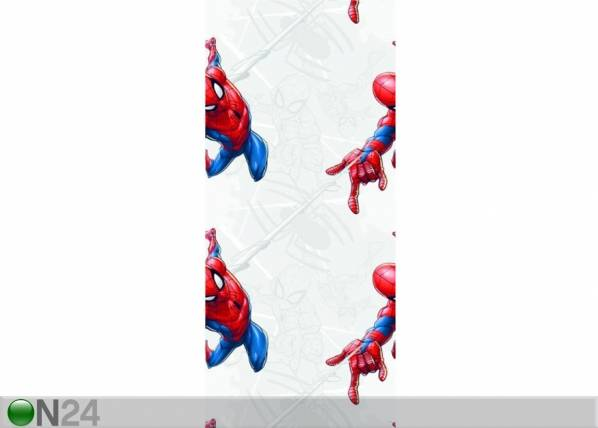 AG Design Fleece-tapetti SPIDER MAN WITH WEB, GREY 53x1000 cm