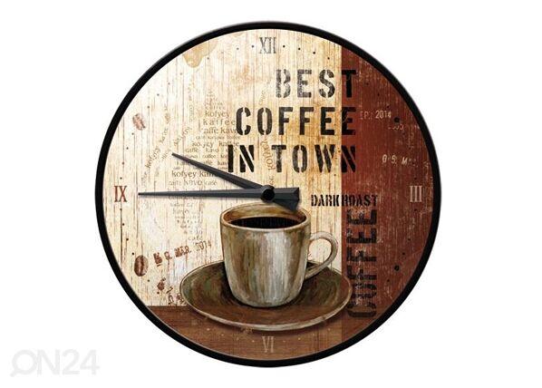 Image of ART Retro seinäkello BEST COFFEE IN TOWN
