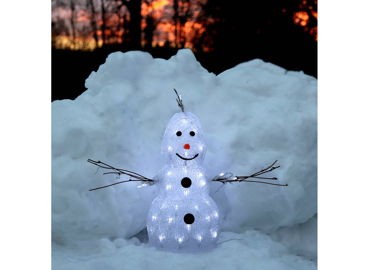 Star Trading Akryylihahmo SNOWMAN 38 cm