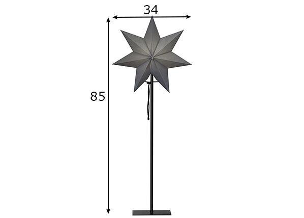 Star Trading Tähti OZEN metallijalalla 85 cm