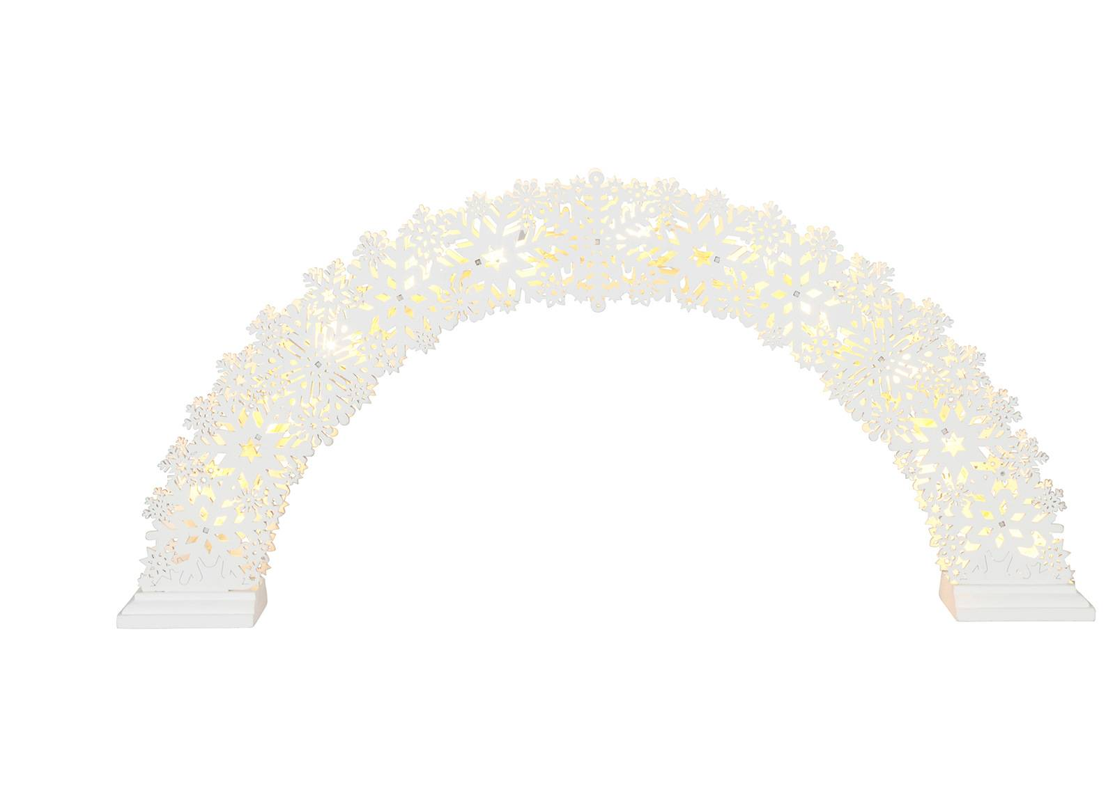 Star Trading Joulukoriste LED valoilla SNOW