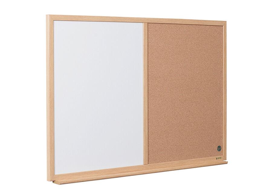 BI-OFFICE Muistitaulu Bi-office Earth (korkki, valkoinen taulu, puuraami) 90x60 cm
