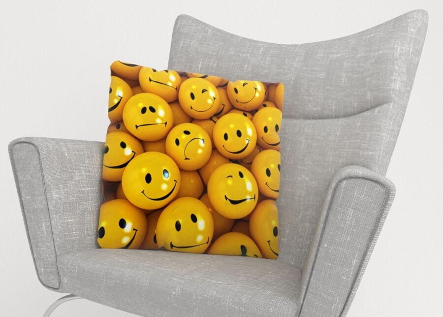 Image of Koristetyynyliina Smiles 45x45 cm