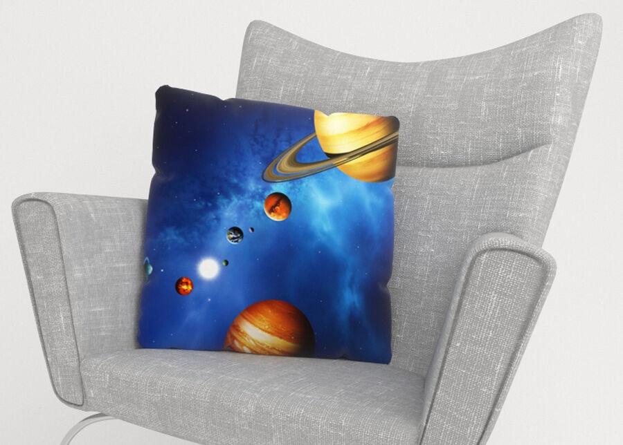 Image of Koristetyynyliina Solar System 45x45 cm