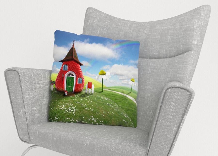 Image of Koristetyynyliina Strawberry 50x50 cm