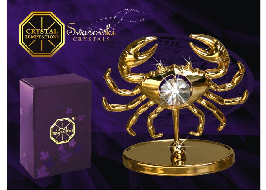 Swarovski Koriste kullatuilla Swarovski kristalleilla RAPU