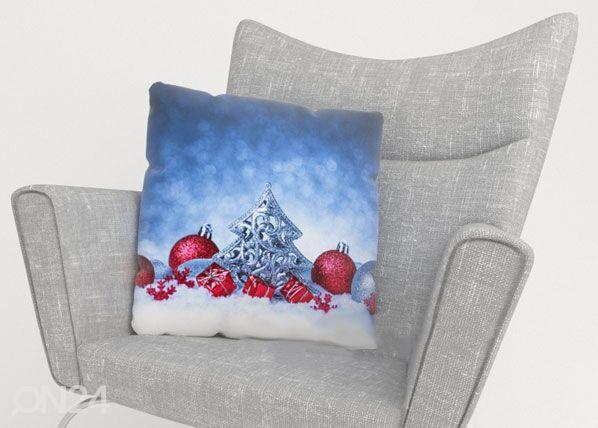 Image of Wellmira Koristetyynyliina CHRISTMAS SNOW 40x40 cm