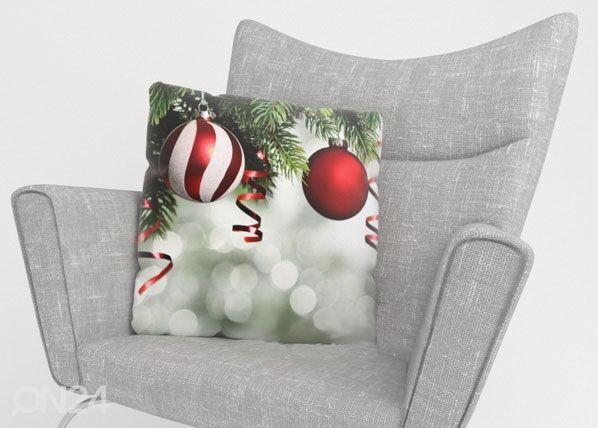 Image of Wellmira Koristetyynyliina RED CHRISTMAS TOYS 2 40x40 cm