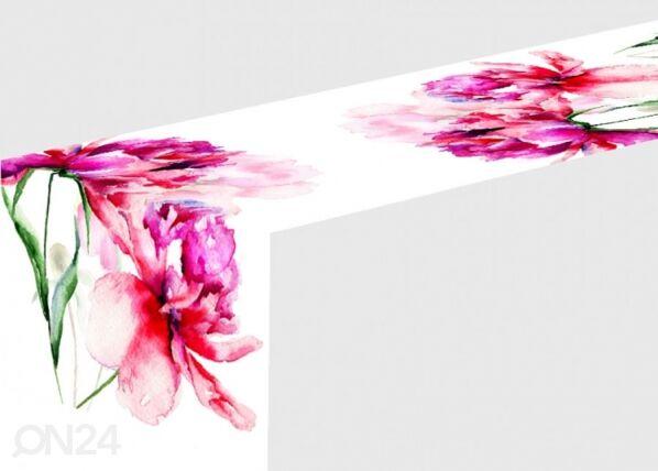 Pöytäliina WATERCOLOR PEONIES 40x140 cm