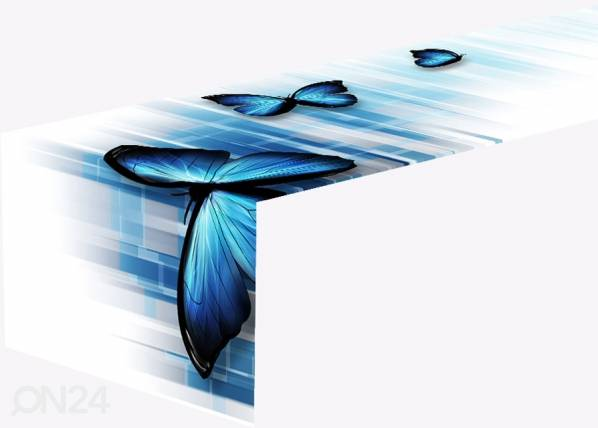 Pöytäliina BLUE BUTTERFLIES 1 40x140 cm