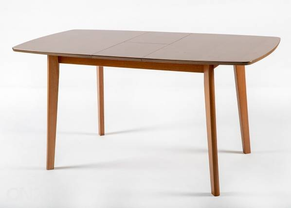 Jatkettava ruokapöytä Bari 80x120-150 cm ja 4 tuolia PARMA, pähkinä