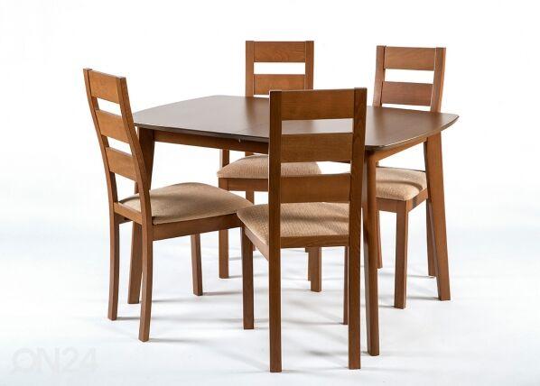 Jatkettava ruokapöytä BARI 80x120-150 cm, pähkinä