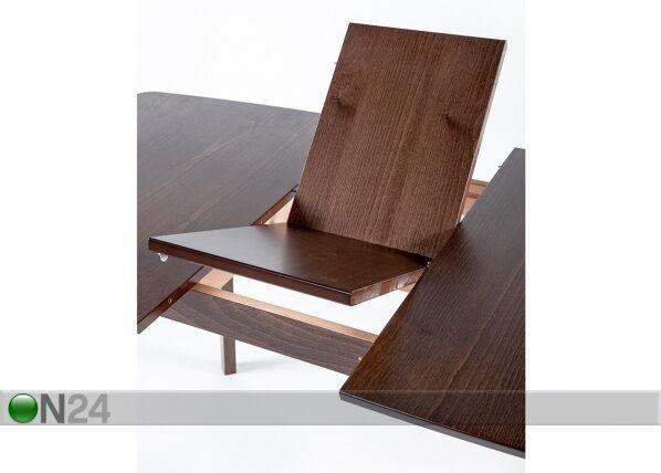 Image of Jatkettava ruokapöytä Bari 80x120-150 cm ja 4 tuolia LUCCA, vaalea wenge