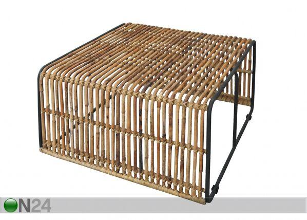SIT Möbel Sohvapöytä Rattan 80x80 cm