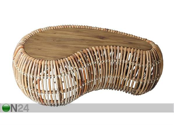 SIT Möbel Sohvapöytä Rattan 120x80 cm