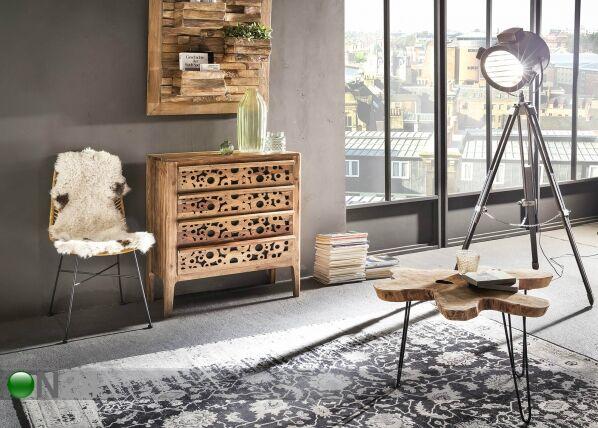 SIT Möbel Sohvapöytä Romanteaka 70x70 cm