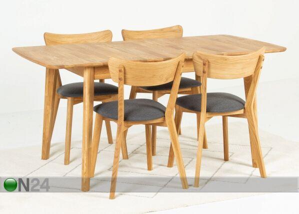 Image of Jatkettava ruokapöytä 120-160x80 cm