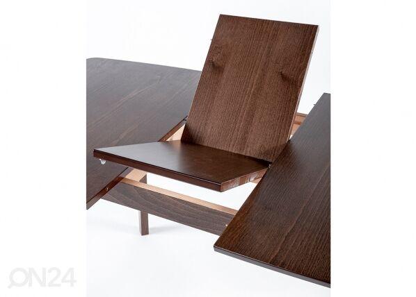 Image of Jatkettava ruokapöytä Bari 80x120-150 cm + 4 tuolia Monza, vaalea wenge