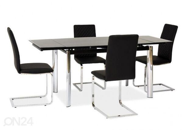Image of Signal Jatkettava ruokapöytä 80x120-180 cm