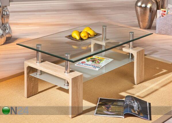 InterLink Sohvapöytä lasitasoilla LOANA