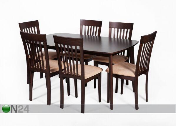 Jatkettava ruokapöytä BARI 90x150-194 cm, wenge